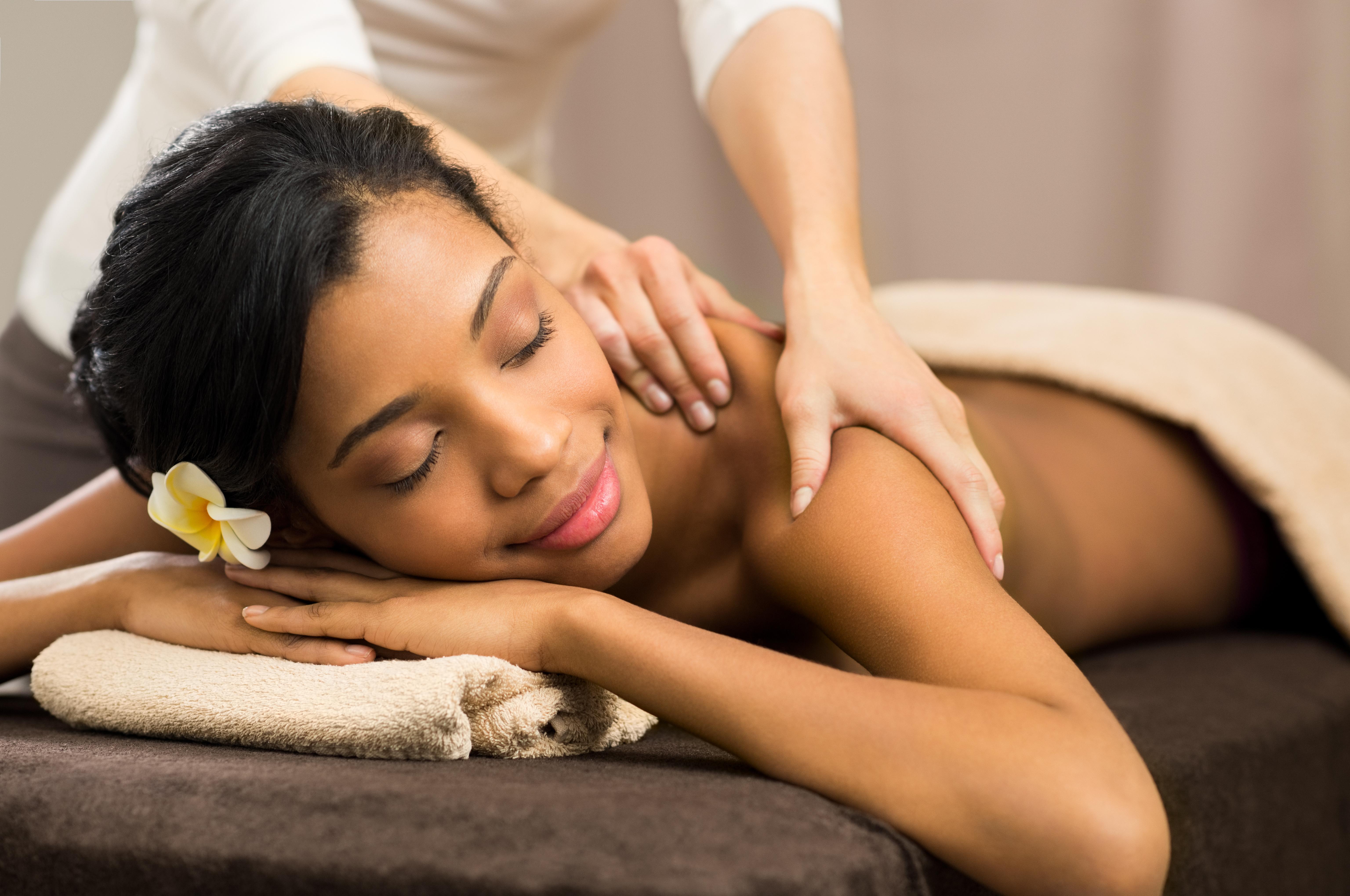 Therapist doing massage