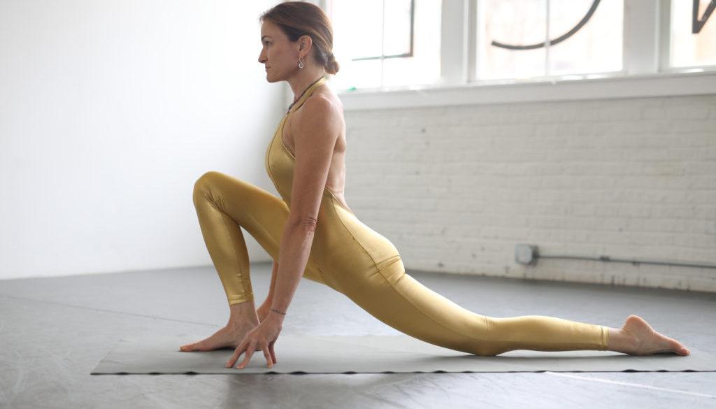 Debby Siegel low lunge beginner yoga
