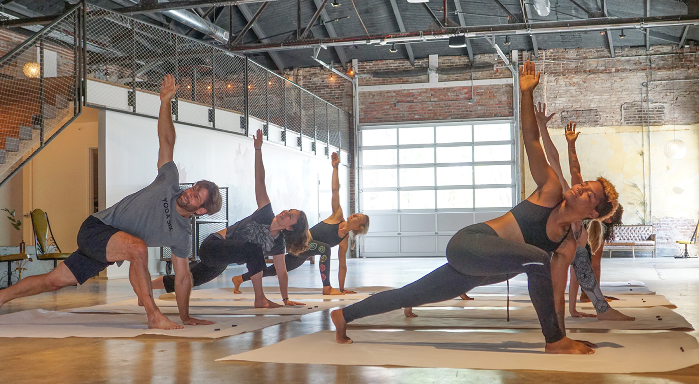 Yoga Outside the Lines at Wild Carrot Event Space.