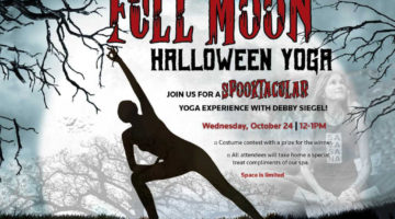 Halloween Full Moon Yoga at Wellbridge Clayton. Costume contest & 60 minutes of vinyasa.