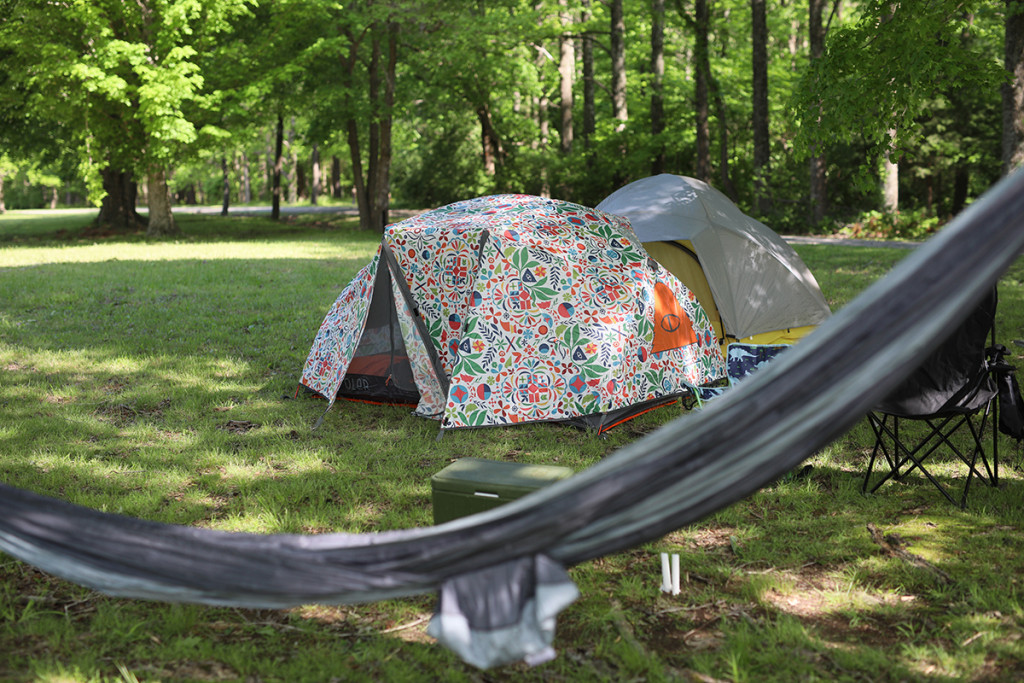 Tent camping at Manifest Station Music & Yoga Festival is just $108 and includes 5 meals.