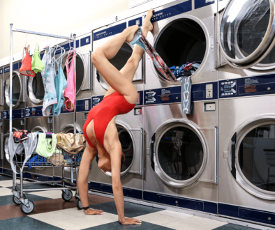 Debby Siegel teaches how to get that sweaty smell out of technical fabric found in many yoga clothes.