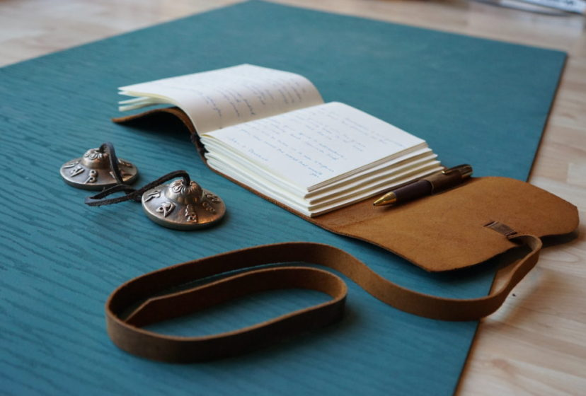 journal for each attendee at yoga retreat in fall 2019