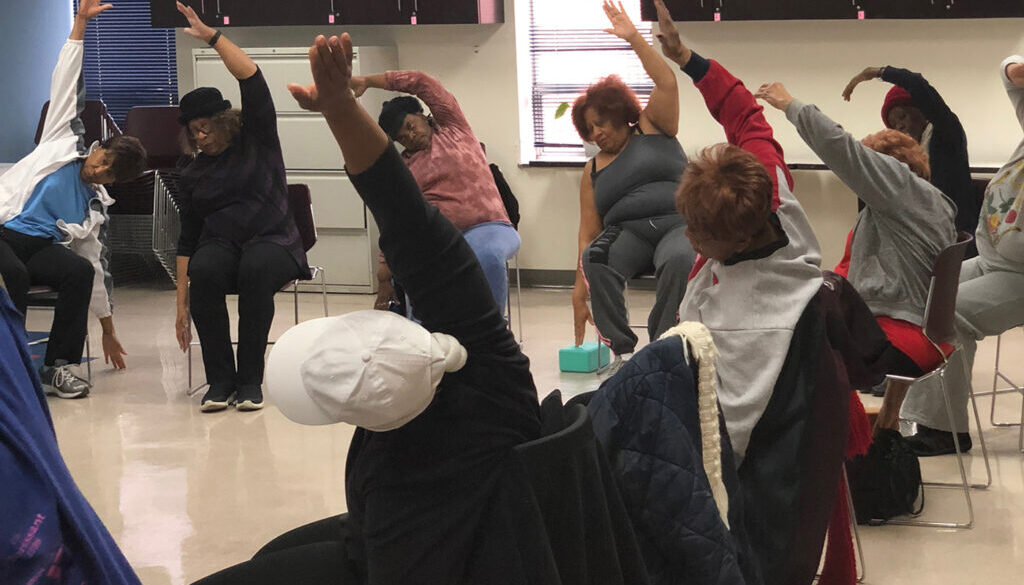 chair yoga at home during coronavirus