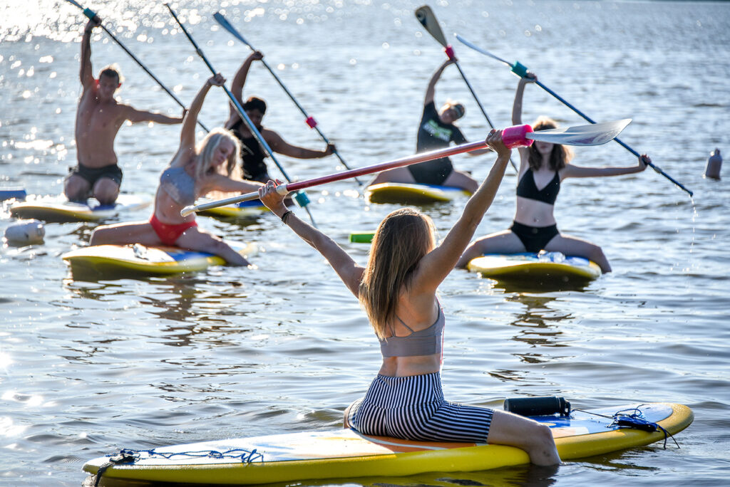 sunset sup paddleboard yoga st louis