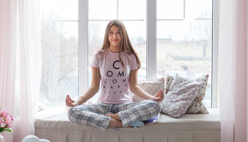 pajama yoga slow flow online yoga with Debby Siegel