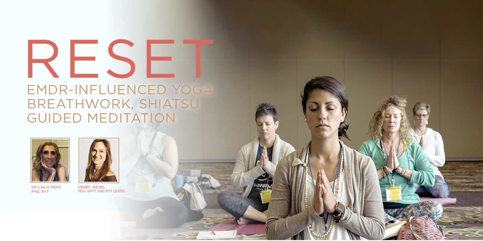 RESET with EMDR-influenced Yoga, Shiatsu & Meditation