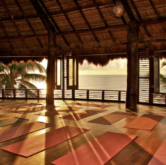 open air yoga studio Tulum